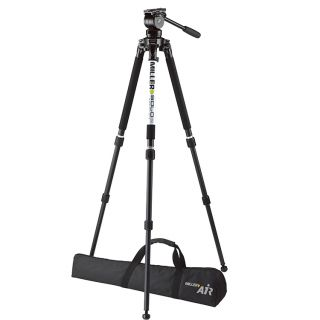 Miller 3001 System AIR with Solo 75 2-St Alloy Tripod 1630 Pan Handle 682 Softcase 2095 Camera Plate 1204